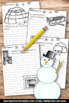 Winter Creative Writing Papers Literacy Center Activities