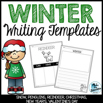 Winter Writing Paper Templates
