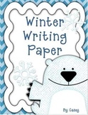 Winter Writing Paper for Primary Writers