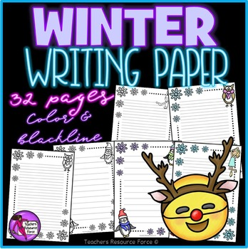 Winter Themed Writing Paper