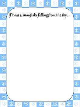 Winter Writing Paper with Prompts