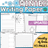 Winter Writing Paper