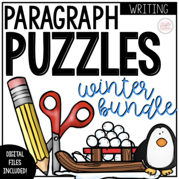 Winter Writing Activity: Paragraph Puzzles Bundle