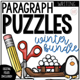Winter Writing Activity: Paragraph Puzzles Bundle