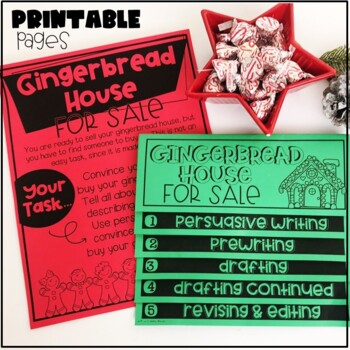 Winter Persuasive Writing and Craftivity-Gingerbread House for Sale