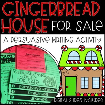 Winter, Holiday Writing Prompt and Craftivity-Gingerbread House for Sale