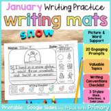 January Writing Prompts Practice Mats