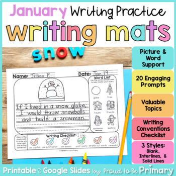 Writing Prompts Activities - January | Digital & Printable | Distance Learning