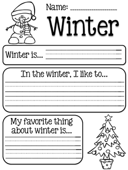Winter Writing Prompt