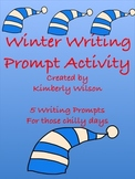 Winter Writing Prompt Activity-5 writing prompts for those