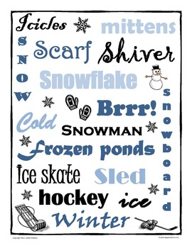 Winter Writing Prompt Activity
