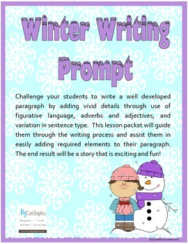 Winter Writing Prompt - The Day My Snowman Came to Life!