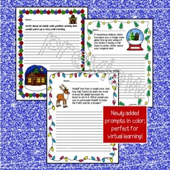 Winter Writing Prompts w/bonus Winter Writing Papers