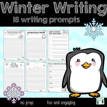 Winter Writing Prompts - 18 included