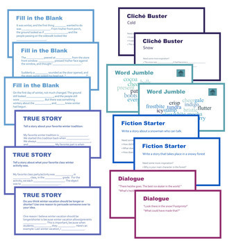 75 Winter Writing Prompts PowerPoint