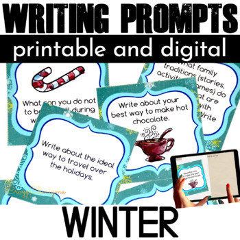 Winter Writing Prompts {54 cards}