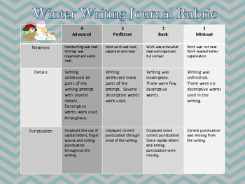 Winter Writing Prompts December, January and February- Common Core