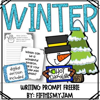 Winter Writing Prompts Freebie