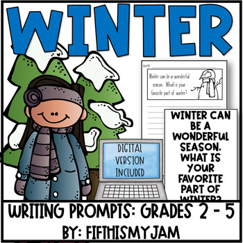 Winter // Writing Prompts: Grades 2 - 5