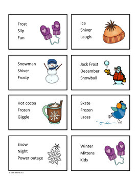 Winter Writing Prompts / Task Cards