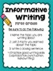 Winter Writing Prompts: Opinion, Informative, Narrative: K-2