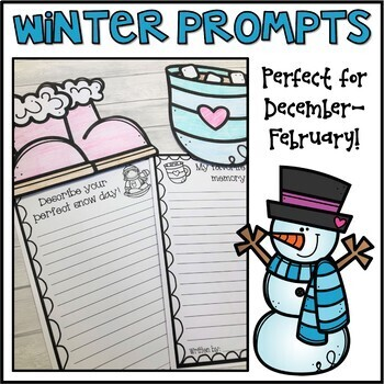 Winter Writing Prompts & Page Topper Craftivities