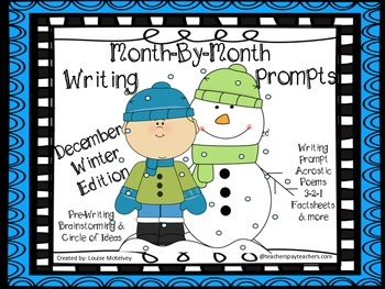Winter Writing Prompts Primary Journals Pack December