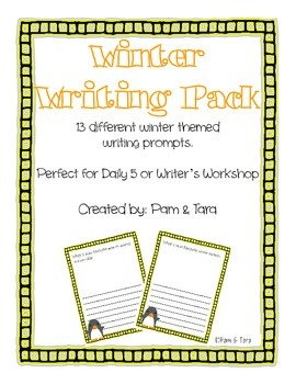 Winter Writing Prompts Sample- FREE