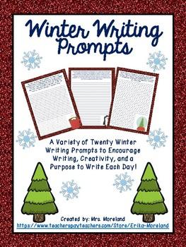 Winter Writing Prompts - Variety of Twenty!