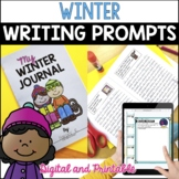 Winter Writing Prompts & Winter Writing Journal - Full Page or Mini Book