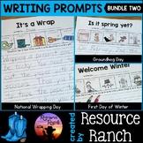 Winter Writing Prompts Worksheet Bundle