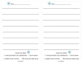Winter Writing Prompts for Centers or Writing Instruction