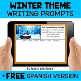 Winter Writing Prompts for Google Classroom - Distance Learning