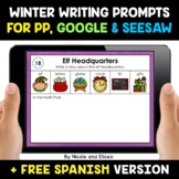 Winter Writing Prompts for Google and Seesaw - Distance Learning