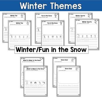 Winter Writing Prompts Kindergarten