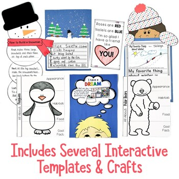 Winter Writing Prompts for Kindergarten, First Grade and Second Grade
