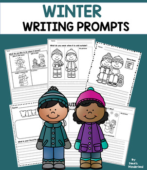 Winter Writing Prompts for Kindergarten and First Grade