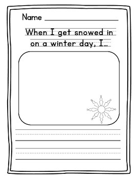 winter writing prompts for preschool by the early childhood academy. Black Bedroom Furniture Sets. Home Design Ideas
