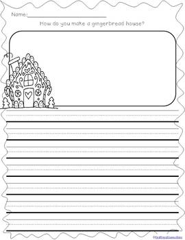 Winter Writing Prompts on Differentiated Themed Paper