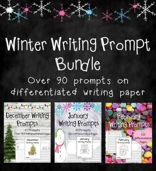 Winter Writing Prompts on Themed Paper {360+ Differentiated Pages!}