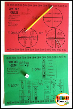 Winter Writing Prompts with Spinners and Dice Writing Games