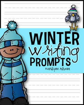 Winter Writing - Prompts with Writing Paper