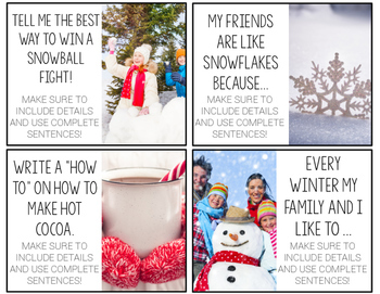 Winter Writing Prompts {with real photos}