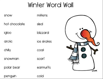 Winter Writing Resource