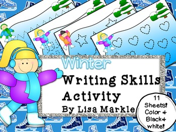 Winter Writing Skills Center Activity for Preschool
