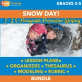 Snow Day! Winter Persuasive Writing Activity (One Paragraph)