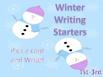 Winter Writing Starters(Illustrated Writing Prompts)