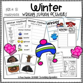 Winter Writing Station