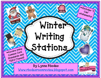 Winter Writing Stations