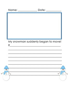 Winter Writing Story Starters and Writing/Illustrating Publishing Option Papers